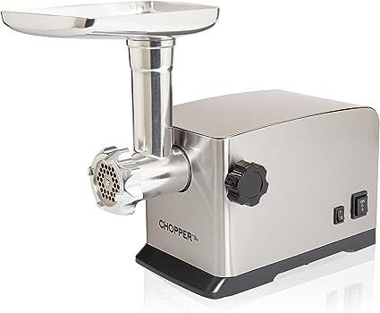 MyWave Chopper - Picadora De Carne Eléctrica Y De Acero Inoxidable, 3 Discos De Corte, Empujador Y Accesorio De Embutir: Amazon.es: Hogar