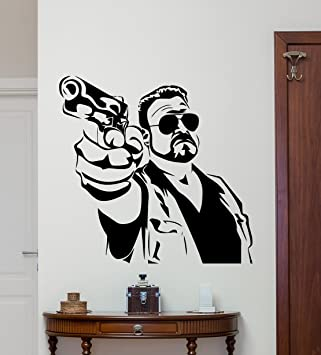 big lebowski wall decal cinema vinyl sticker movie wall art design housewares kids room bedroom decor - Wall Art Design Decals