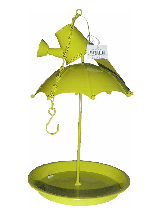 GREENWARE Pensez A Nourrir Les Oiseaux Tout en DECORANT Votre Jardin Superbe Look MANGEOIRE Parapluie ET ARROSOIR 30X17 CM Vert GENERIQUE
