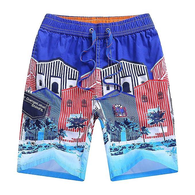 c80ba8bb73 Boys Teens Swim Trunks, Quick Dry Surfing Beach Sports Running Swim Shorts  with Drawstring 6T