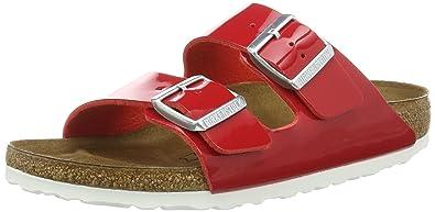 fe27ace3e39 Birkenstock Womens Arizona Tango Red Patent Birko-Flor Sandals 36 EU