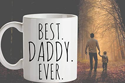 Amazon BEST DADDY EVER Coffee Mug Fathers Day Gift For