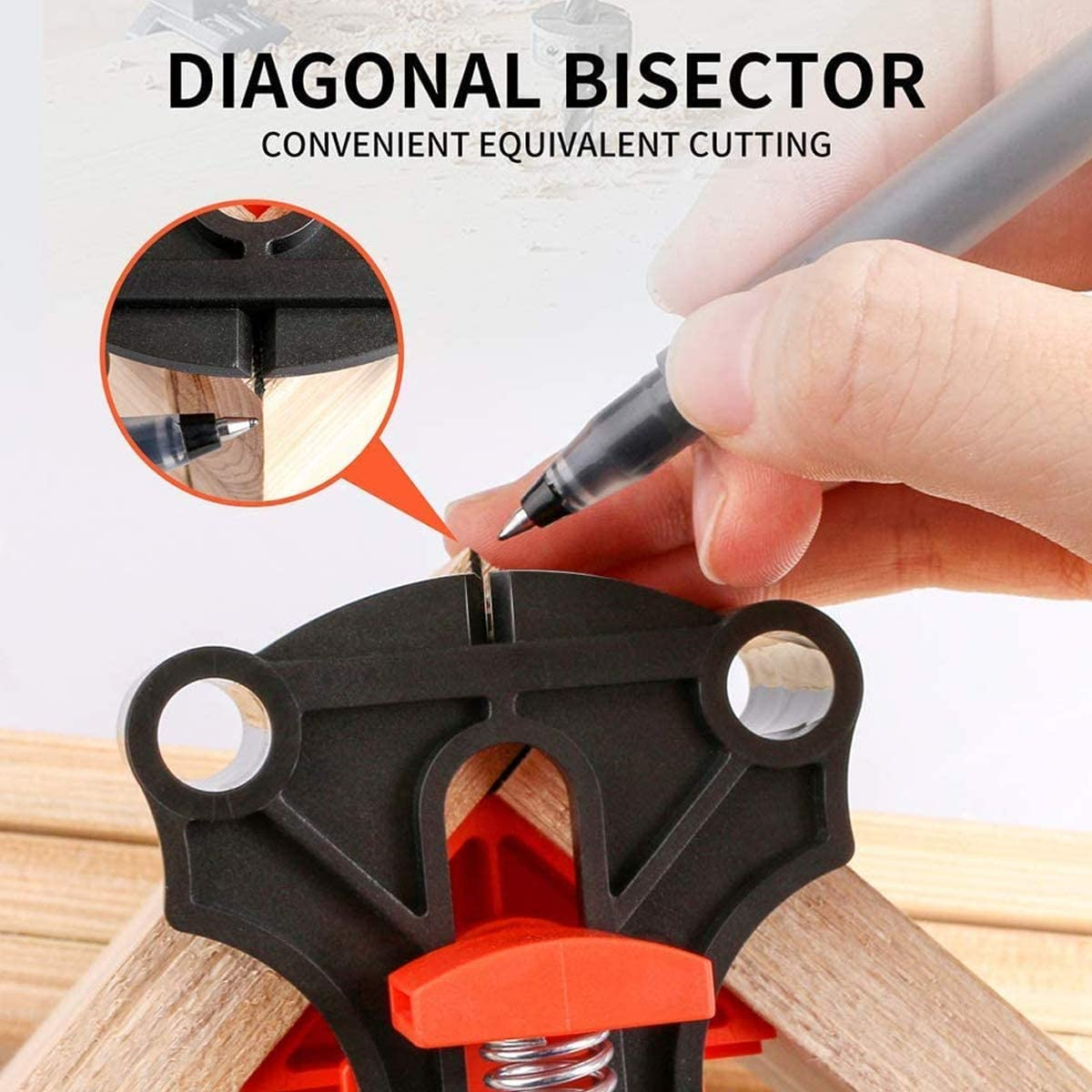 FuFeng Corner Clamp 90 Degree Right Angle Clamp Making Cabinets Welding Photo Framing Drilling 60//90//120 Angle Clamp 4 PCS,Corner Clip Fixer For Carpenter Adjustable Woodworking Clamp Tools