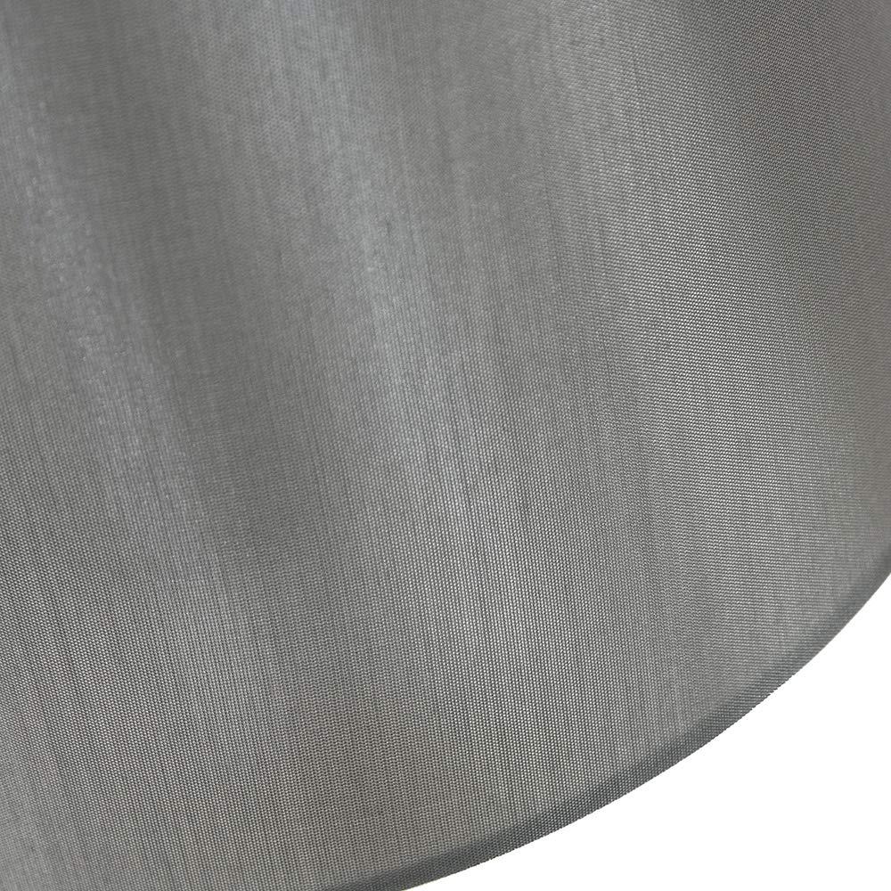 taille moyenne un /él/égant tissu en simili-soie noir de 12 po par Happy Homewares Abat-jour design traditionnel forme Tambour