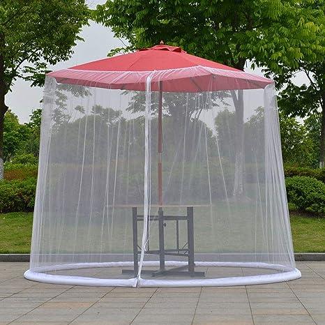 DBSCD Pantalla Paraguas Cubierta Mosquitero, Pantalla de jardín al Aire Libre Paraguas Tabla, con Cierre de Cremallera de la Puerta y Malla de poliéster Red, Fácil de configurar (sin Paraguas): Amazon.es: Deportes