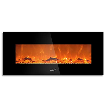 Amazon Com Ivation 50 Wall Mounted Glass Electric Fireplace W