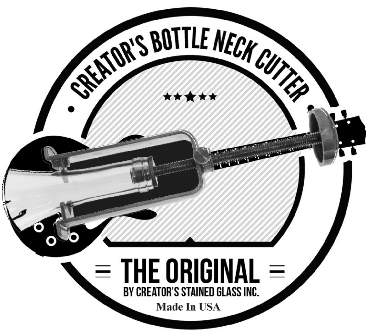 Creator's Bottle Neck Cutter - Blue - DIY Machine - Includes Abrasive Stone - Born And Made In The USA by Creator's