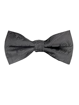 Pre tied bow tie - Woven Jacquard silk in solid light grey Notch RkbNnnd6Nt