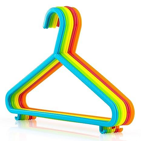 Hangerworld - Perchas para Niños (29 cm) Pantalones, Plástico. Colores Mixtos -10 Unidades