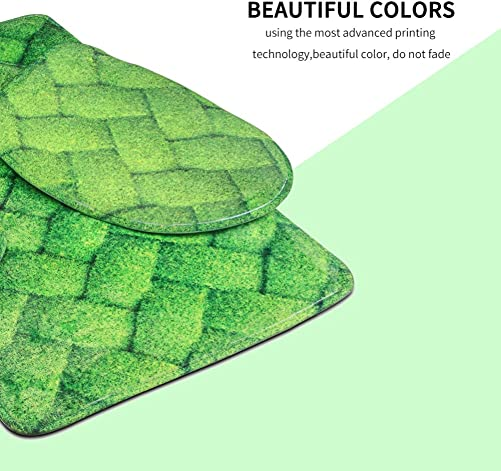 HUGS IDEA Custom Bath Mats Set Soft Bathroom Rug Contour Lid Toilet Cover 3 Piece
