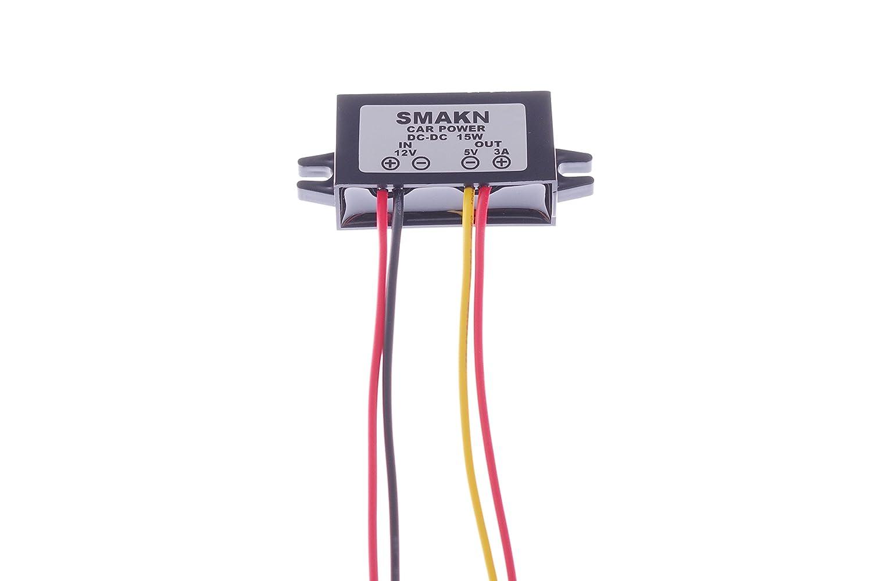 SMAKN Waterproof DC//DC Converter 12v Step Down to 5V//3A Power Supply Module TRTCC911 8~23V