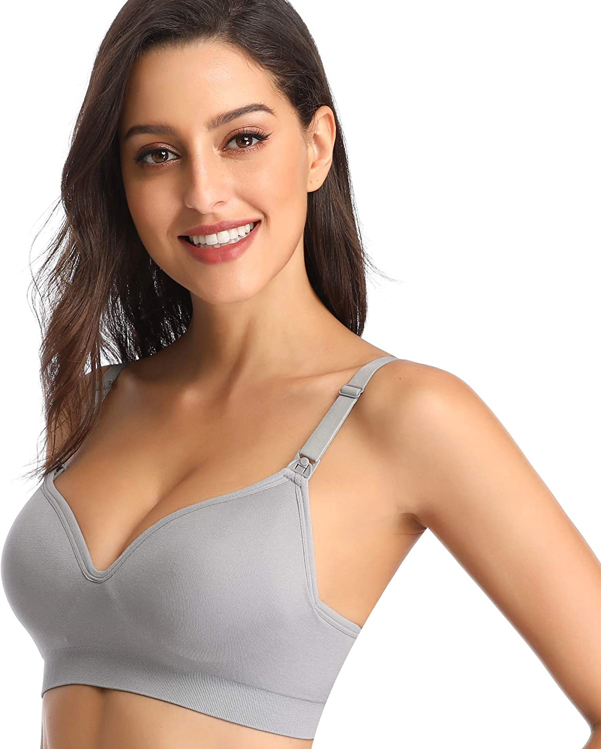 Details about  /BAOMOSI 4Pack Womens Nursing Bra for Breastfeeding Seamless Clip Down Push Up Pa