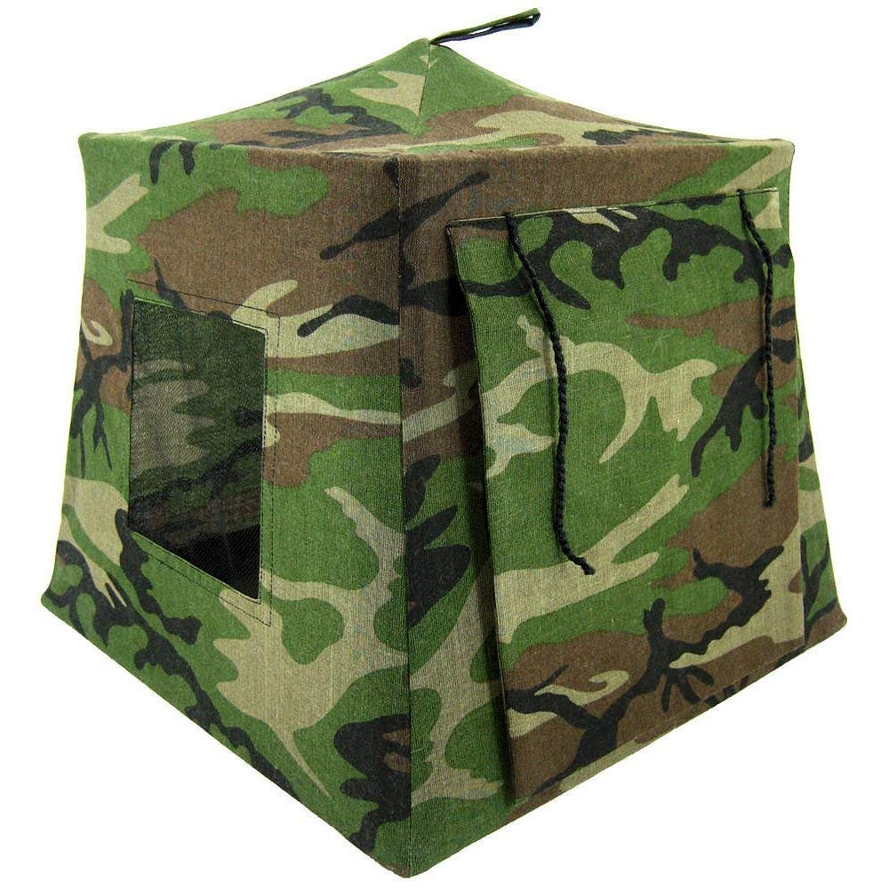 Toy Play Pop Up Tent, 2 Sleeping Bags, Green Black and Brown Camouflage Print for Dolls, Action Figures, Stuffed Animals