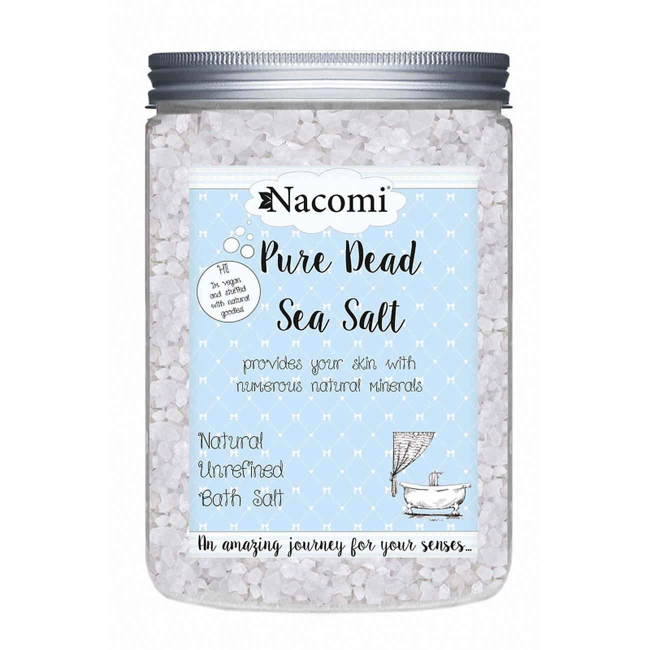 Nacomi Natural Dead Sea Bath Salt Pure 1400g