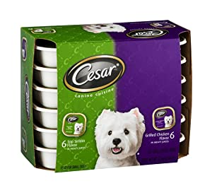 Mars Cesar Canine Cuisine Top Sirloin and Grilled Chicken Food for Small Dogs, 3.06 Pound - 2 per case.