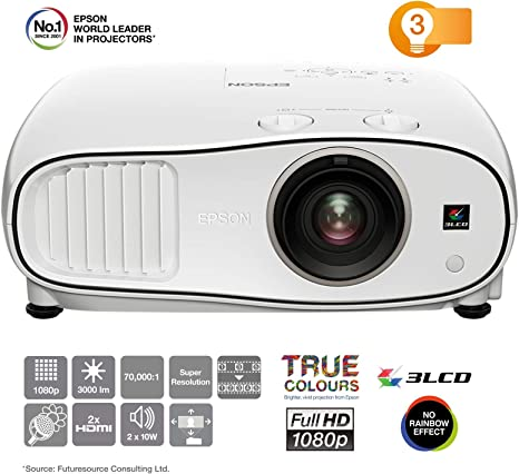 Epson EH-TW6700W Video - Proyector (3000 lúmenes ANSI, 3LCD, UWHD ...
