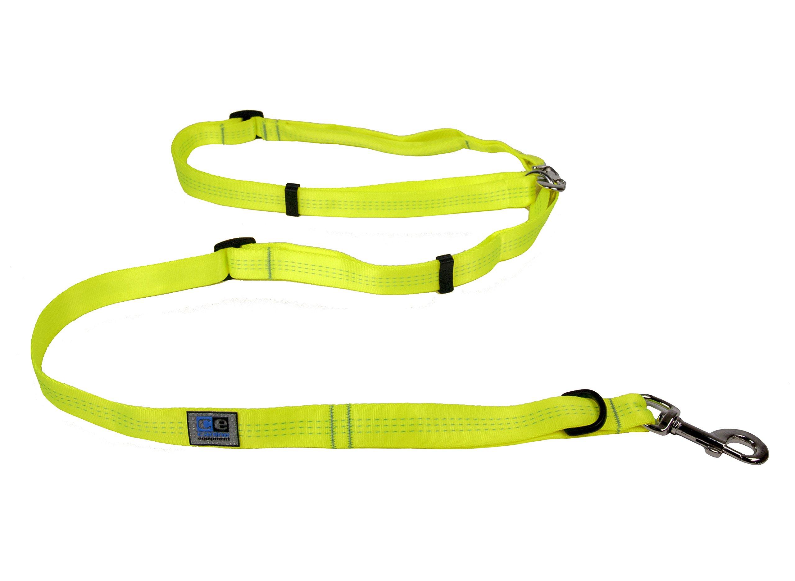 Canine Equipment Technika Beyond Control 1 Inch Dog Leash, 4 in 1 Leash, Neon Yellow