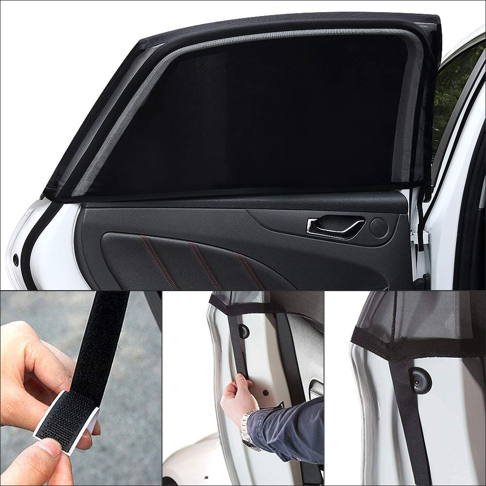 RunSnail Waterproof Frost Car Cover Mirror Cover Protector Side//Rear Window UV Protection for Windshield Anti UV Windproof Half Thick Car Cover