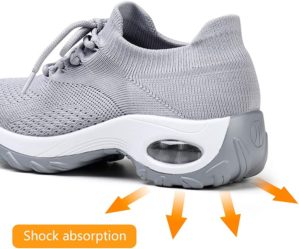 HKR Womens Trainers Mesh Running Slip on Walking Shoes