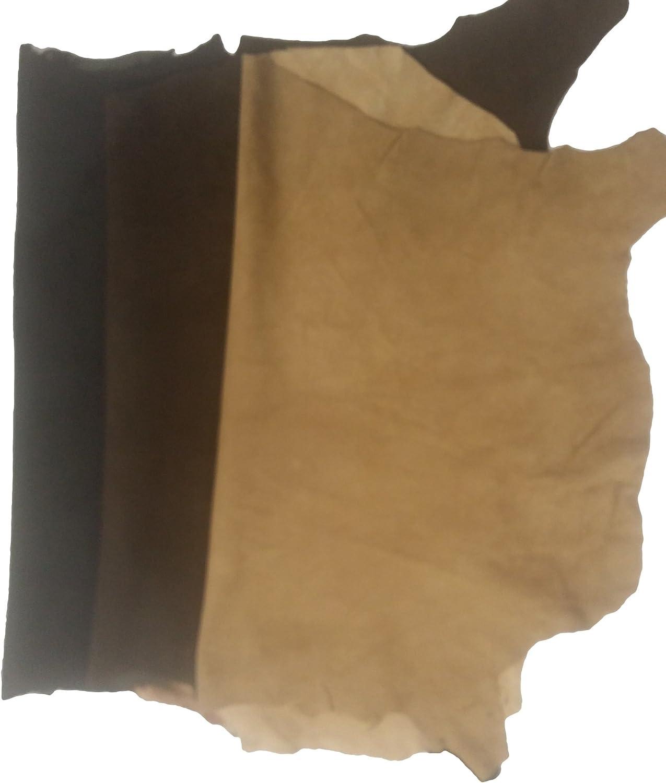 REED Las Pieles de Cuero - Piel de Oveja Entera de 7 a 10 SF (Gamuza - Negro)