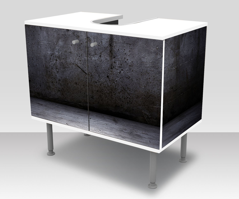 wandmotiv24 Mueble de ba/ño Muro de hormig/ón Grunge Pegado Completo Lavabo Mueble Lavabo M0942