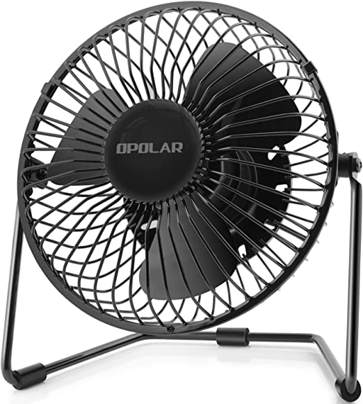 """Desk USB Fan with 2 Speed 5/"""" Small Quiet Table Personal Fan for Home and"""