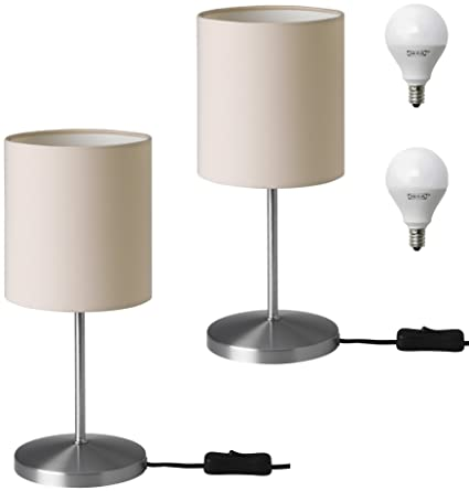 IKEA INGARED Desk Table Lamp Set With LED Bulbs For Office, Work, School,