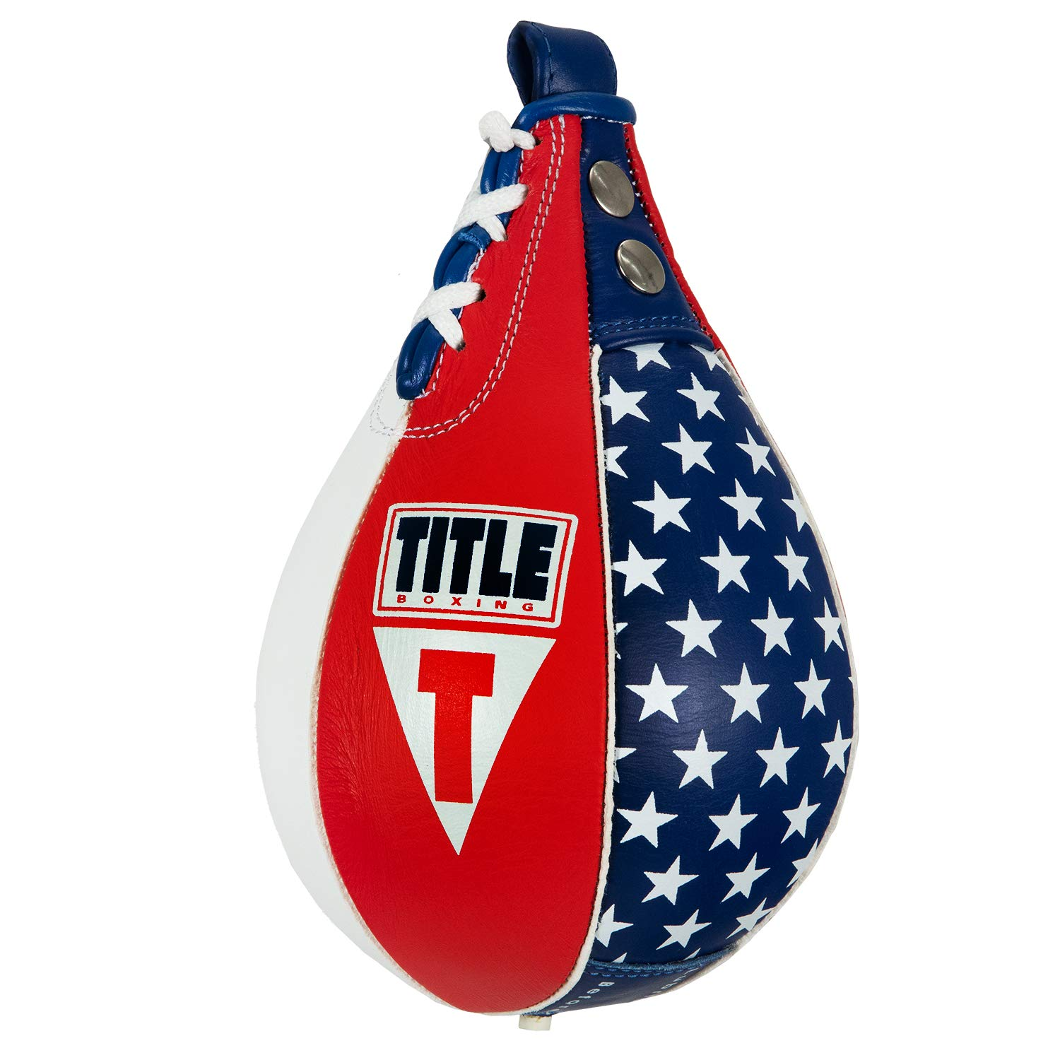 Title Boxing USA Leather Super Speed Bag, USA, 6'' x 9'' by Title Boxing