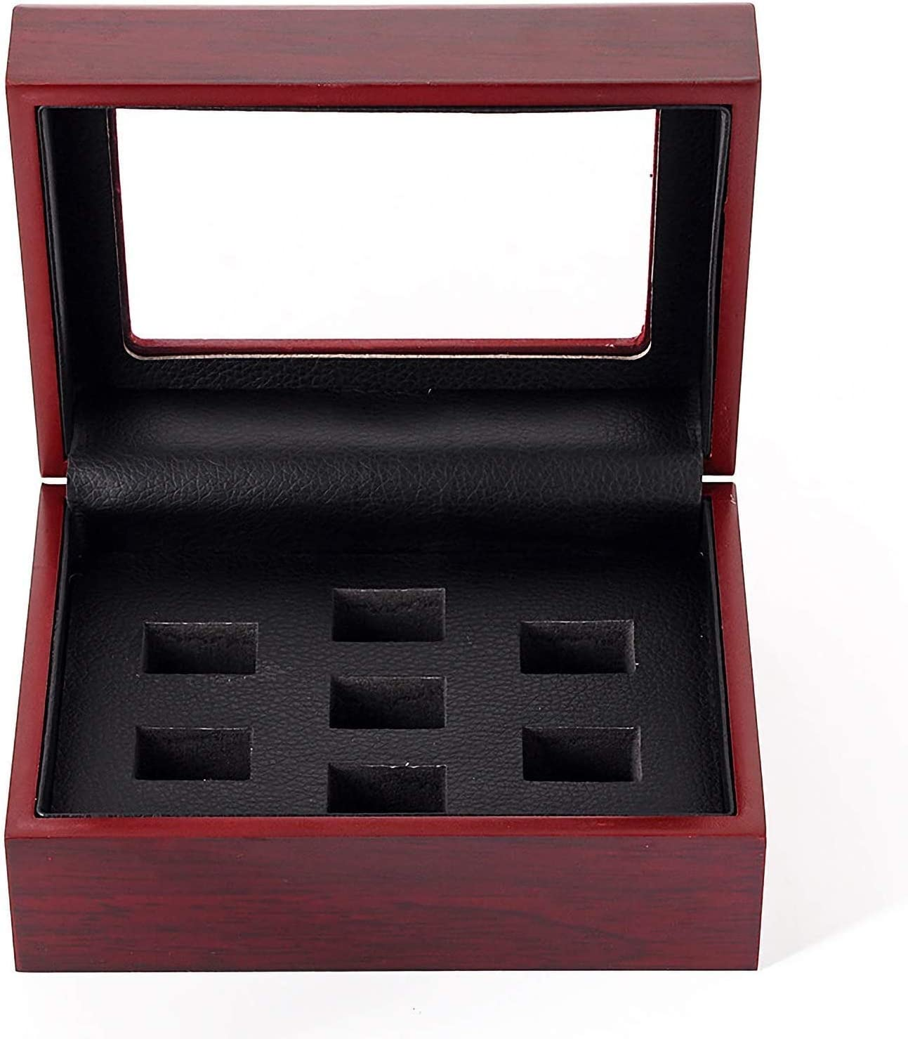 RECHIATO Championship Rings Display Case Wooden Display Ring Box Sports Rings Display Case