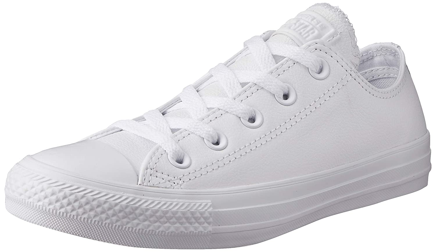 White Leather Converse Chuck Taylor All Star Leather Low Top Sneaker