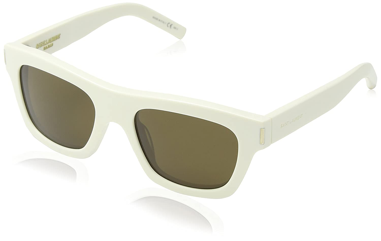 Saint Laurent Bold 4 gafas de sol, Marrón (White), única (Talla del Fabricante: One Size) Unisex Adulto