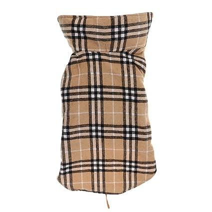 selezione premium 49c17 2e0e2 Generic Cane Impermeabile Inverno Cappotto Giacca A Quadri Reversibile  Vestiti Caldi - Beige, S