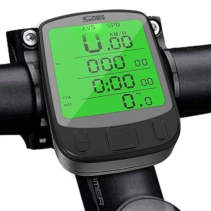 SPLAKS Cuentakilómetros para Bicicleta de múltiples Funciones ...