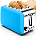 Toaster 2 Slice Best Rated Prime Wide Slot, Stainless Steel Blue