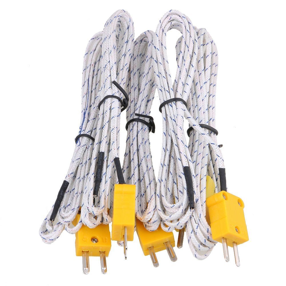 BQLZR 2 m cable de termopar K Tipo Sonda Sensores con conector mini Pack de 5 BQLZRN30650
