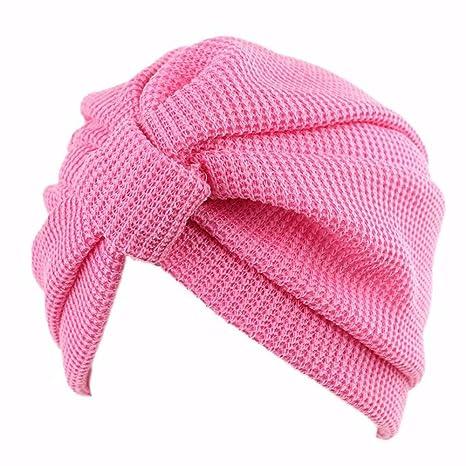 07b09c011e051 OSISDFWA Moda Mujer Bufanda Gorro La Cabeza De Algodón India Sombrero  Sombrero Headcap Anoto Baotou Pink Gorros De Punto  Amazon.es  Deportes y  aire libre