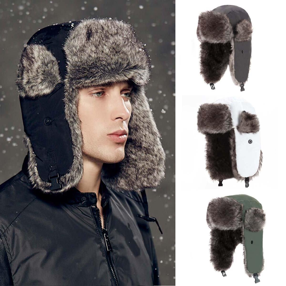 Yesurprise Trapper Warm Russian Trooper Fur Earflap Winter Skiing Hat Cap Women Men Windproof by Yesurprise (Image #8)