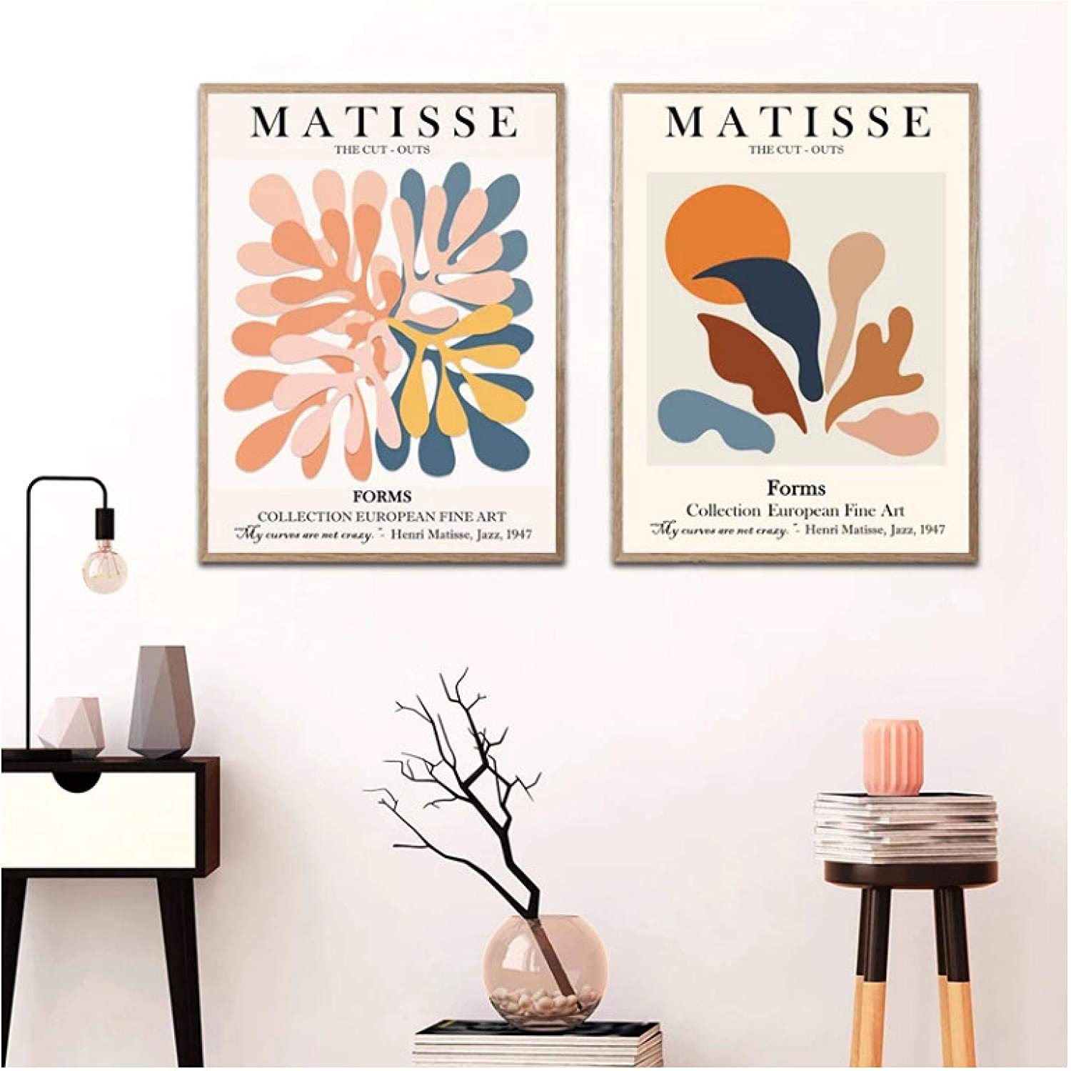Cut Outs Drawing Famous Print Exhibition Print Set of 2 Contemporary  Art Modern Wall Gallery Henri Matisse Print Printable Wall Art