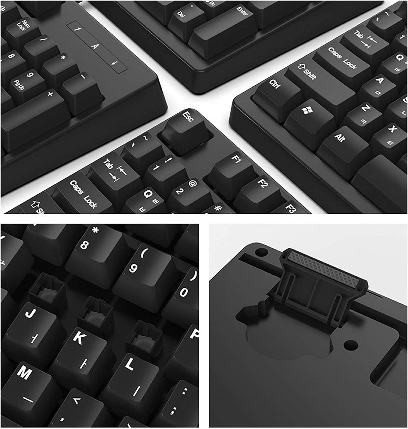 QSENN SEM-DT45 USB Wired Korean English Keyboard with Cover Skin Protector for PC