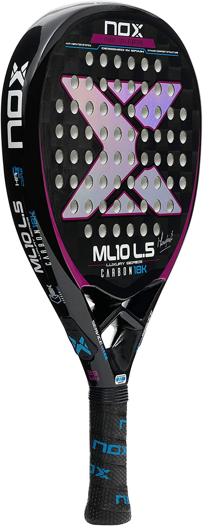 NOX Pala de pádel ML10 Luxury L.5 Carbon 18K by Miguel Lamperti ...