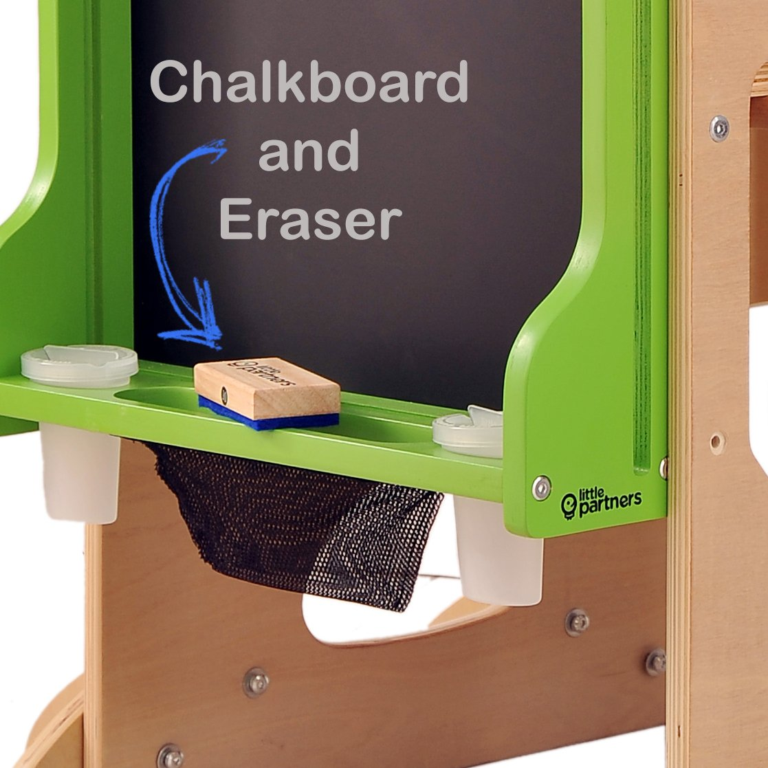 Improved Little Partners Learn N/' Share Easel - Espresso Art and Education Add-on Attachment for The Learning Tower