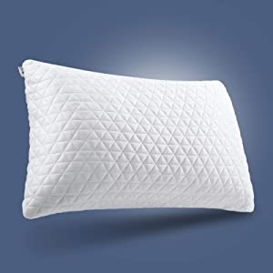 EASELAND Queen Premium Hypoallergenic Shredded Memory Foam Pillow-Gel Adjustable Memory Pillow -Cooling Bamboo Hotel Pillows for Side Stomach Back Sleeper-CertiPUR-US-Pillows for Sleeping-20×30 Inches