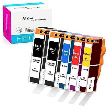 Amazon.com: K-ink cartucho de repuesto para 564XL 564 XL (2 ...