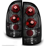 ACANII - For Smoke Len 2005-2015 Toyota Tacoma Truck Tail Lights Brake Lamps Taillights 05-15 Left + Right Assembly