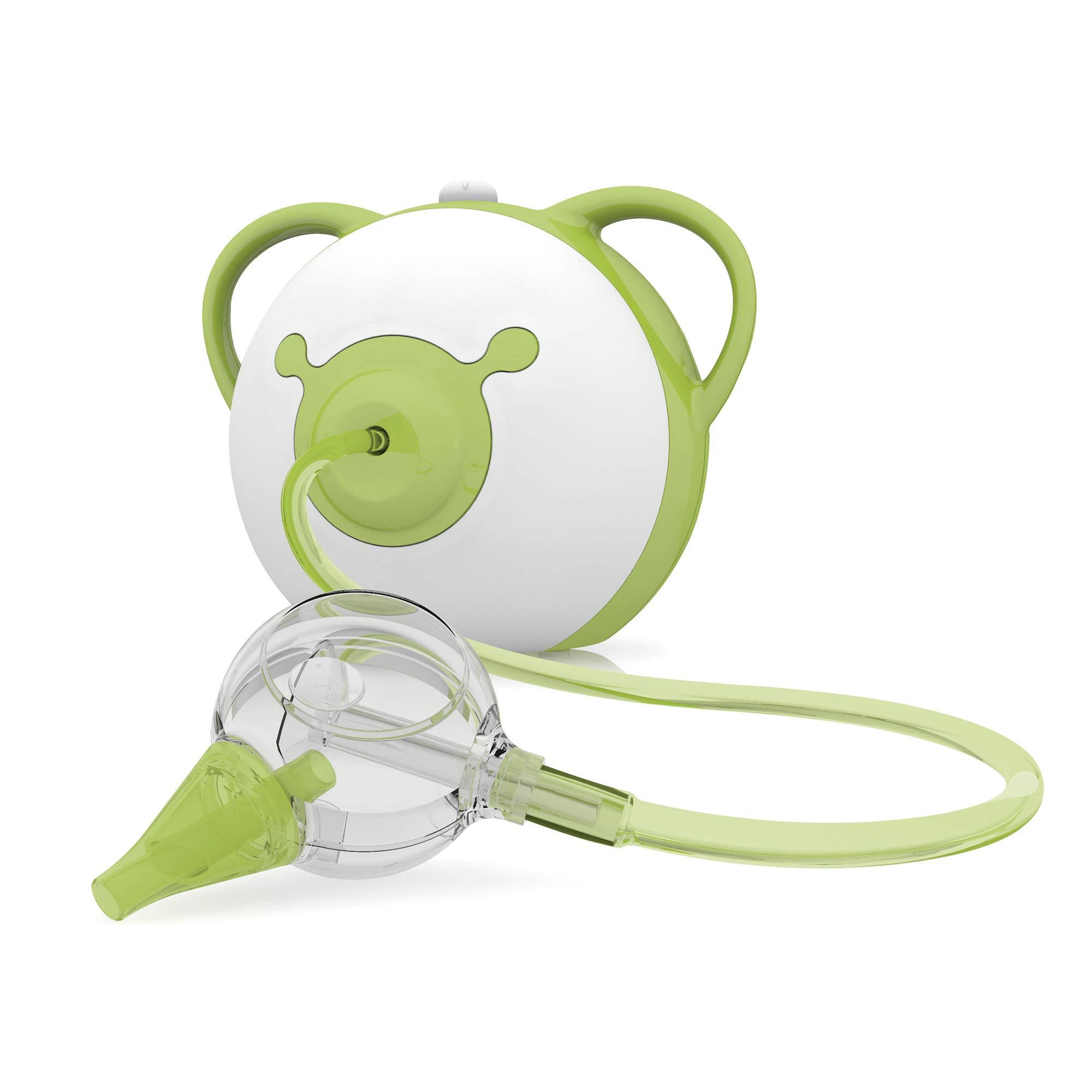 Nosiboo Pro Baby Electric Nasal Aspirator/Nose Sucker - 110V Nose Cleaner - Adjustable Nose Suction Power (Green)