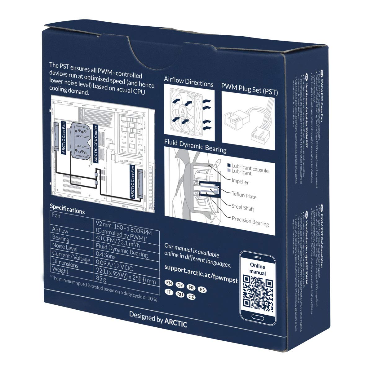 Arctic F9 Pro PWM PST | Parallelschaltung von L/üftern 92 mm PWM PST Geh/äusel/üfter mit Vibrationsabsorption PST-Anschluss PWM Sharing Technology