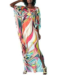 8eb284c990 Bsubseach Women s Swimwear Turkish Kaftans Swimsuit Cover up Caftan Beach  Long Dress