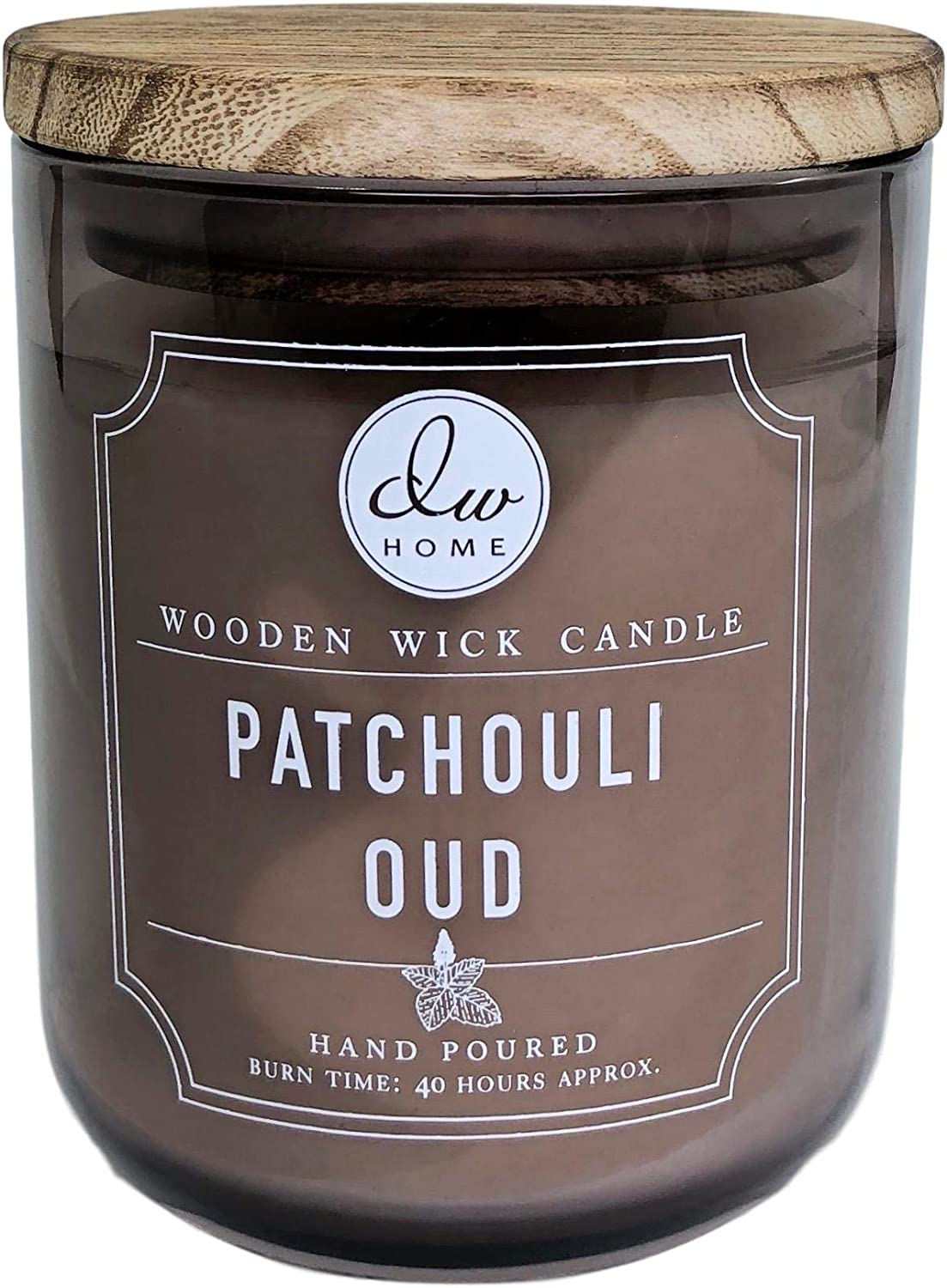 DW Home Patchouli Oud Scented Candle Wooden Wick