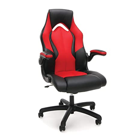 Super Ofm Essentials Collection High Back Racing Style Bonded Leather Gaming Chair In Red Ess 3086 Red Onthecornerstone Fun Painted Chair Ideas Images Onthecornerstoneorg