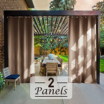 RHF Outdoor Blackout Curtains Patio Curtain For